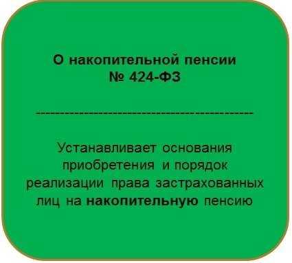 закон о накопительной пенсии 424-ФЗ